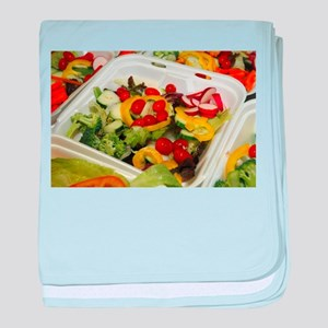 Fresh Garden Salad baby blanket