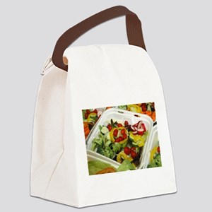 Fresh Garden Salad Canvas Lunch Bag