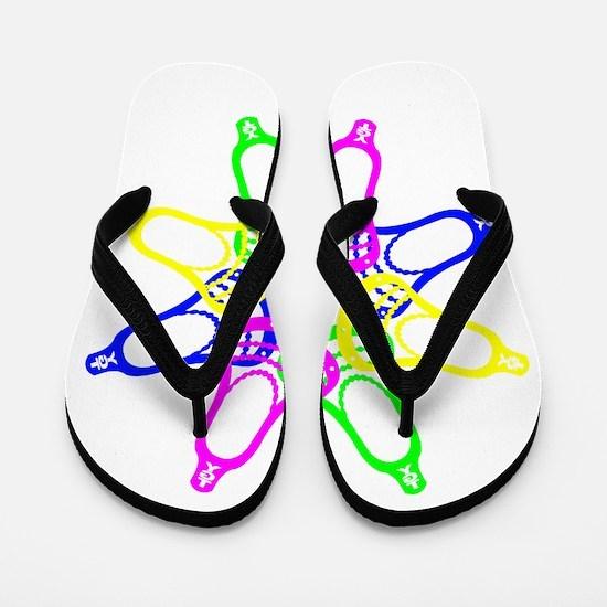 Summer Set Neon Heads Flip Flops