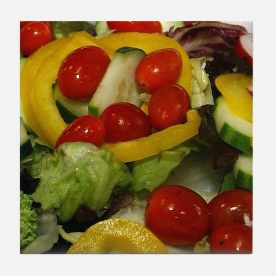Fresh Garden Salad Tile Coaster
