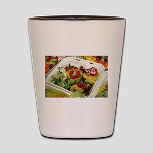 Fresh Garden Salad Shot Glass
