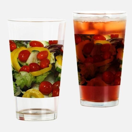 Fresh Garden Salad Drinking Glass