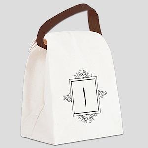 Alif Arabic letter A monogram Canvas Lunch Bag