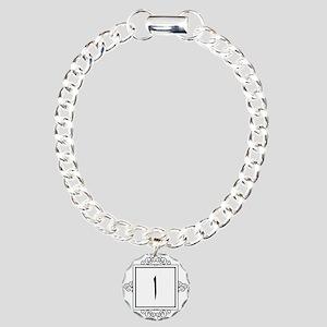 Alif Arabic letter A monogram Charm Bracelet, One