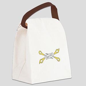 scissoring Canvas Lunch Bag