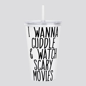 Cuddle and Watch a Mov Acrylic Double-wall Tumbler
