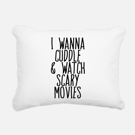 Cuddle and Watch a Movie Rectangular Canvas Pillow