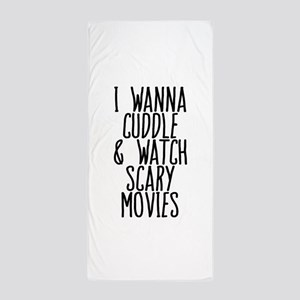 Cuddle and Watch a Movie Beach Towel