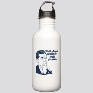 Well Played Whiskey Stainless Water Bottle 1.0L