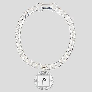 Miim Arabic letter M monogram Charm Bracelet, One