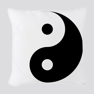 Yin And Yang Woven Throw Pillow