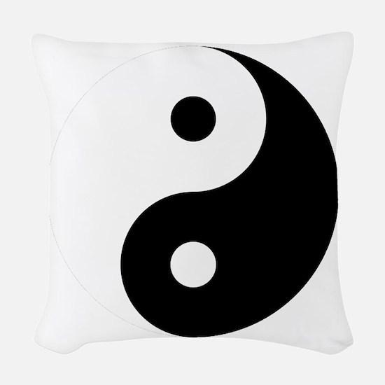 Yin And Yang Woven Throw Pillow
