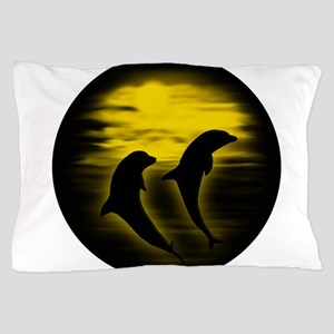 Dolphins Yellow copy Pillow Case