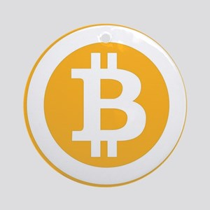 Bitcoin Symbol Round Ornament