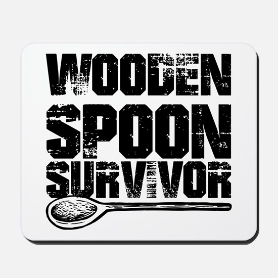 wooden spoon survivor Mousepad