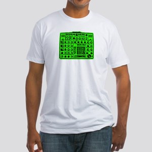 Synthi Green Fitted T-Shirt
