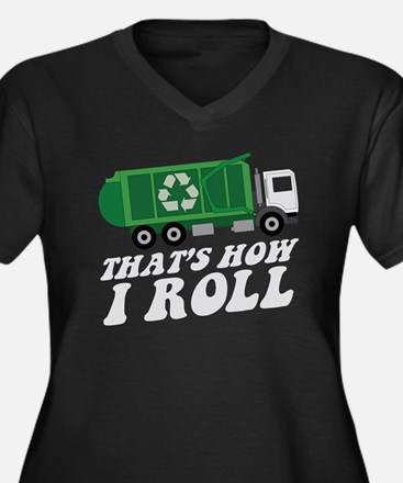 Recycling Truck Plus Size T-Shirt