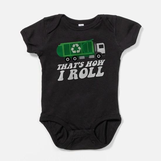 Recycling Truck Baby Bodysuit