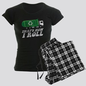 Recycling Truck Women's Dark Pajamas