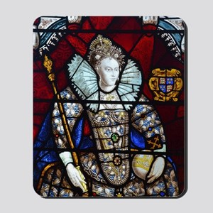 Queen Elizabeth I Stained Glass Mousepad