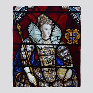 Queen Elizabeth I Stained Glass Throw Blanket