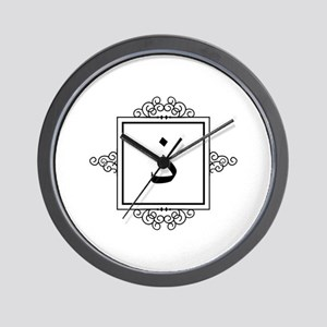 Zaal Arabic letter Z / Th monogram Wall Clock