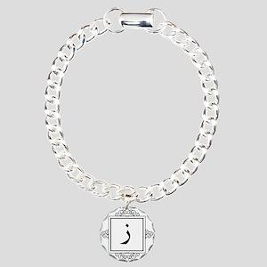 Zaay Arabic letter Z monogram Charm Bracelet, One