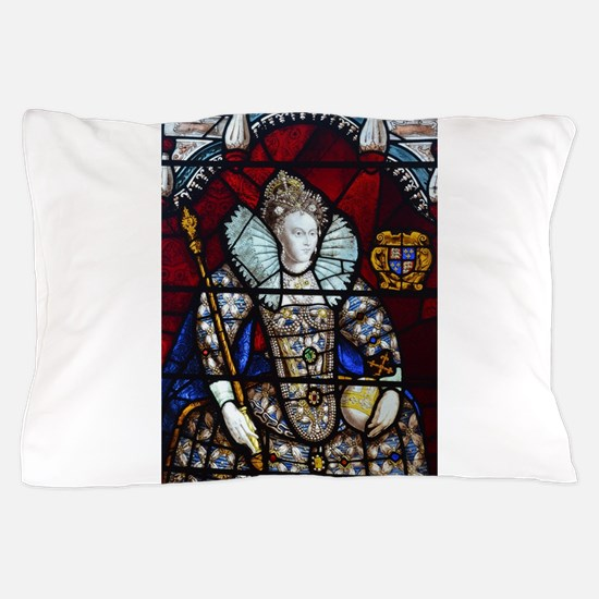 Queen Elizabeth I Stained Glass Pillow Case
