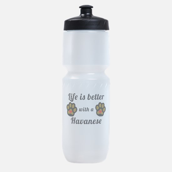 Life Is Better With A Havanese Sports Bottle