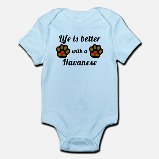 Life Is Better With A Havanese Body Suit