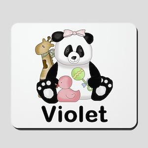 violet's sweet panda personalized Mousepad