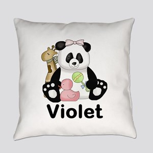 violet's sweet panda personalized Everyday Pillow