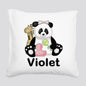 violet's sweet panda personal Square Canvas Pillow