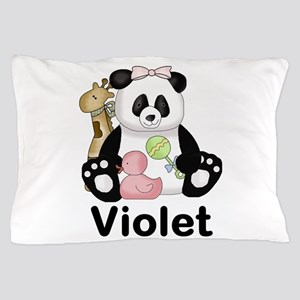 violet's sweet panda personalized Pillow Case