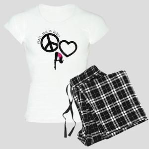 PEACE-LOVE-DIVING Women's Light Pajamas