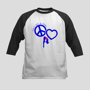 PEACE-LOVE-DIVING Kids Baseball Jersey