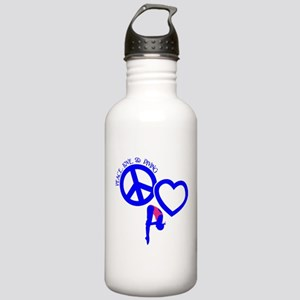 PEACE-LOVE-DIVING Stainless Water Bottle 1.0L