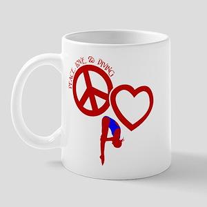 PEACE-LOVE-DIVING Mug