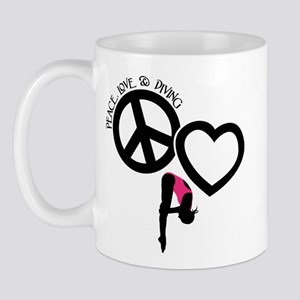 PEACE-LOVE-DIVING Mug