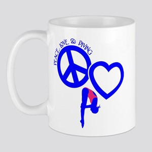 Peace-Love-Diving Mug Mugs