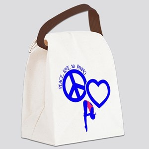 PEACE-LOVE-DIVING Canvas Lunch Bag