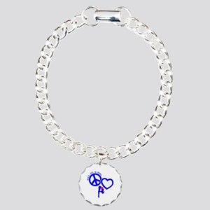 PEACE-LOVE-DIVING Charm Bracelet, One Charm