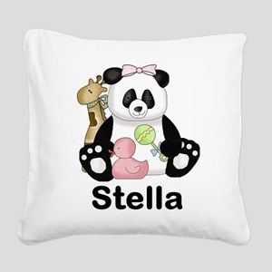 stella's sweet panda personal Square Canvas Pillow