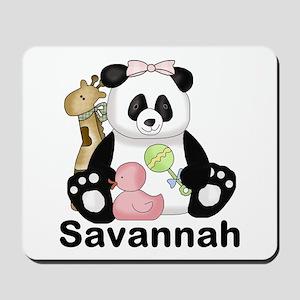 savannah's sweet panda personalized Mousepad