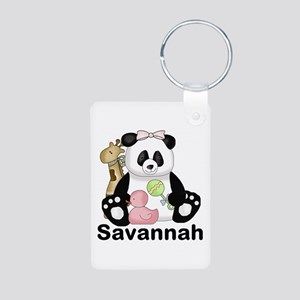 Savannah's Sweet Panda Per Aluminum Keychains
