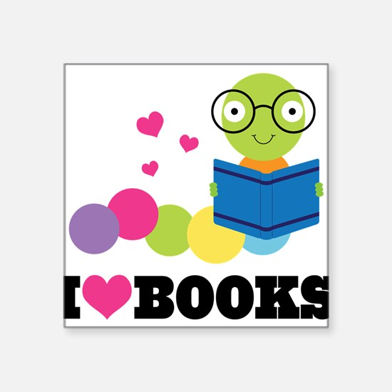 """Cute Book clubs Square Sticker 3"""" x 3"""""""