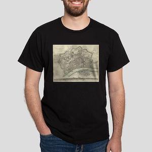 Vintage Map of Frankfurt Germany (1837) T-Shirt