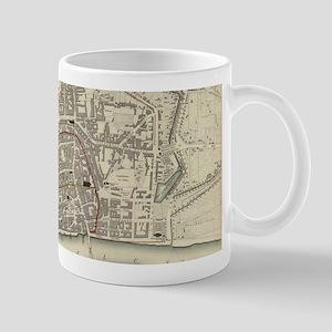 Vintage Map of Frankfurt Germany (1837) Mugs
