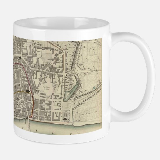 Vintage Map of Frankfurt Germany (1837) Mugs