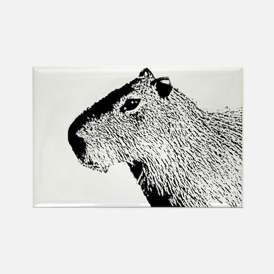 Unique Capybara Rectangle Magnet